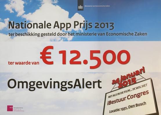 OmgevingsAlert wint Nationale App-prijs